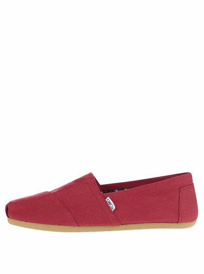 Červené pánské loafers TOMS