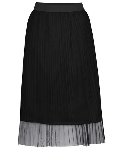 Černá tylová plisovaná midi sukně TALLY WEiJL