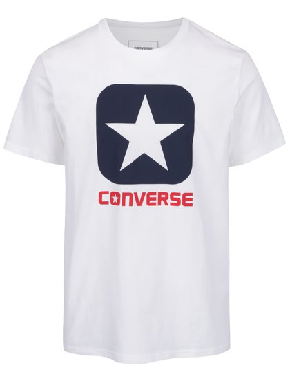 Bílé pánské triko s potiskem Converse Core boxstar
