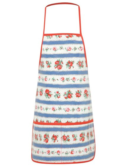Červeno-modro-bílá holčičí květovaná zástěra Cath Kidston
