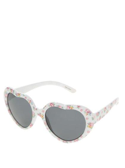 Růžovo-bílé květované holčičí sluneční brýle Cath Kidston