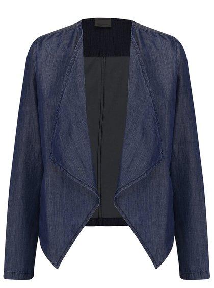 Tmavě modré krátké džínové sako VERO MODA Emilia