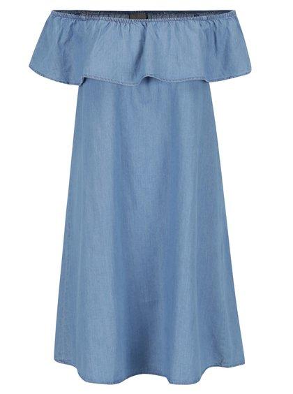 Rochie albastru deschis VERO MODA Emilia cu volane