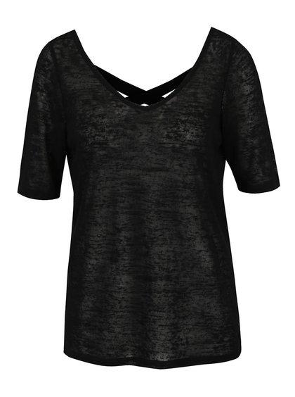Černé tričko s pásky na zádech Vero Moda Sunshine