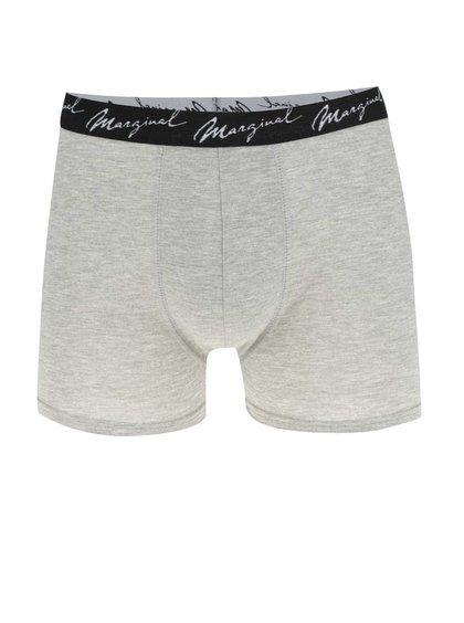 Šedé žíhané boxerky Marginal
