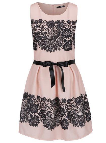 Černo-růžové vzorované šaty Haily´s Josy