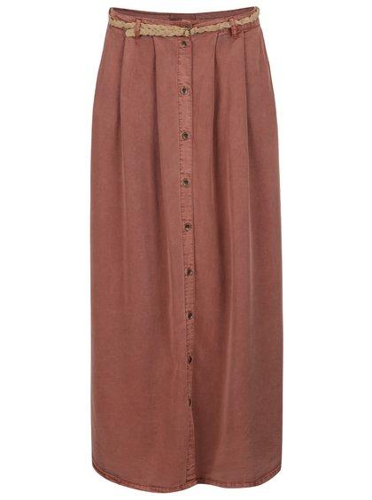 Cihlová sukně s páskem VERO MODA Zoe