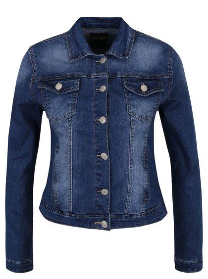 Modrá džínová bunda s vyšisovaným efektem Haily's Enny