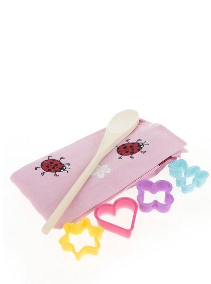 Růžový holčičí kuchyňský set Cooksmart
