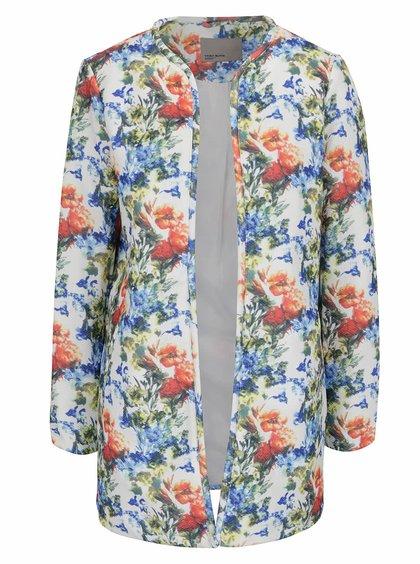 Krémový květovaný kabát VERO MODA Mila