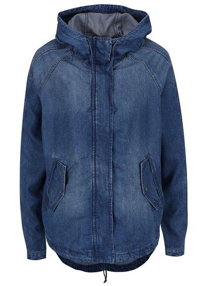 Modrá džínová bunda s kapucí ONLY Martina