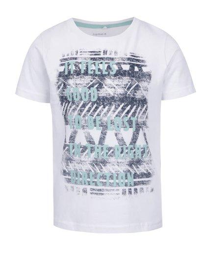 Bílé klučičí triko s potiskem name it Faik