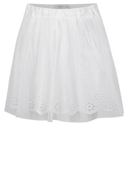 Bílá holčičí tylová sukně s madeirou name it Hey