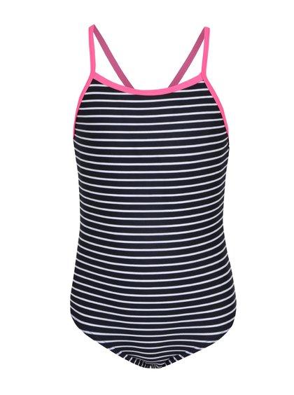 Bílo-černé jednodílné holčičí pruhované plavky name it Zummer