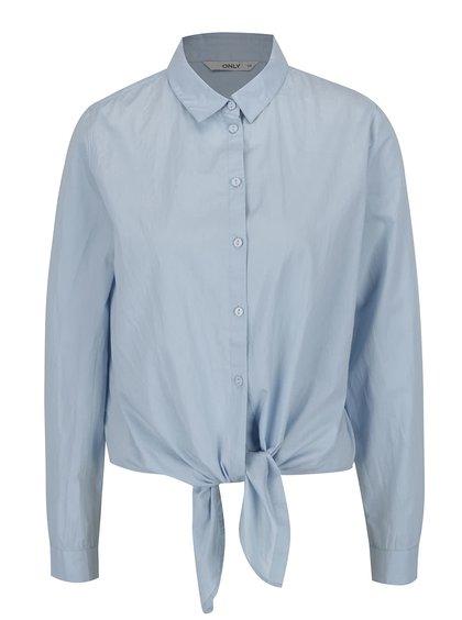 Světle modrá košile s uzlem ONLY Allison