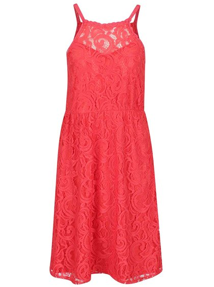Rochie roșie fără mâneci Vero Moda Thea din dantelă