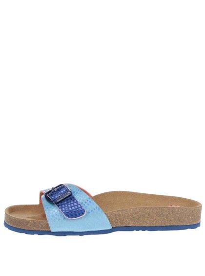 Papuci albastru metalic Desigual Bio 1 cu talpă ortopedică
