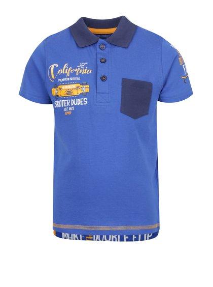 Tricou polo albastru Blue Seven pentru băieți