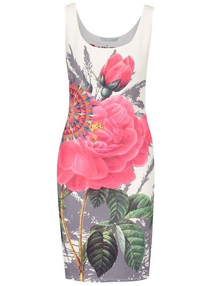 Rochie crem Desigual Sharyka cu imprimeu floral