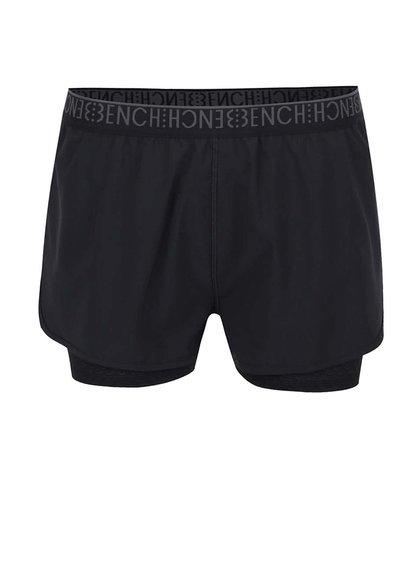Pantaloni scurți negri Bench cu elastic