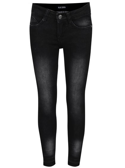 Černé klučičí džíny s vyšisovaným efektem Blue Seven