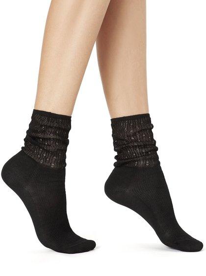 Černé ponožky s jemným vzorem Oroblu Select