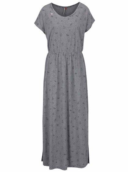 Rochie maxi albastră Ragwear Arlene cu model în dungi