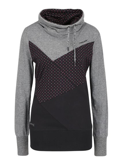 Hanorac gri & negru Ragwear Viola cu model