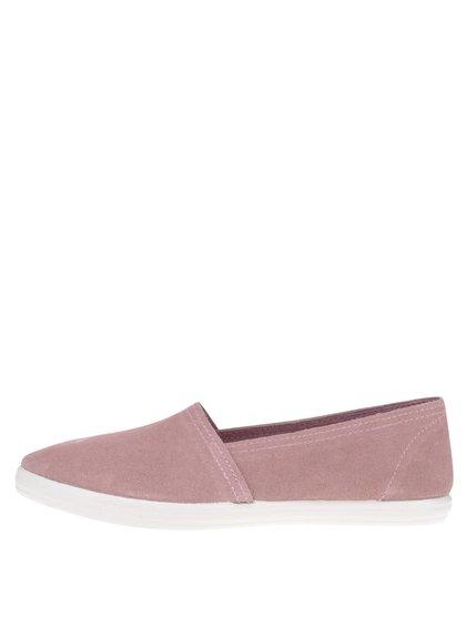 Růžové dámské semišové loafers OJJU