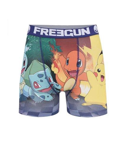 Modro-zelené boxerky s potiskem Pokémon Freegun