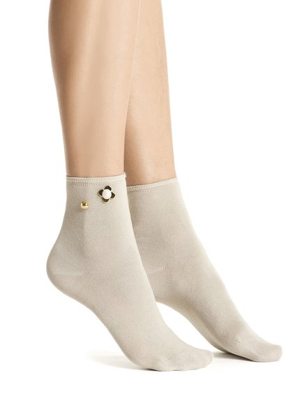 Béžové ponožky s aplikací Oroblu Bijoux
