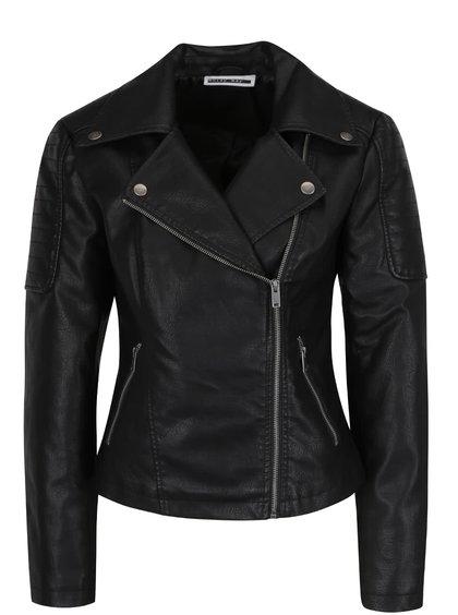 Jachetă neagră Noisy May Rebel din piele ecologică