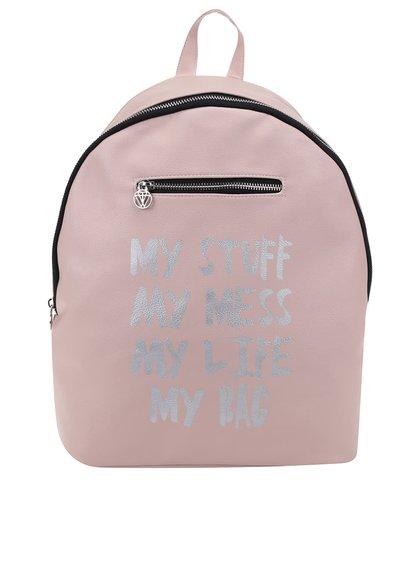 Světle růžový batoh s potiskem TALLY WEiJL