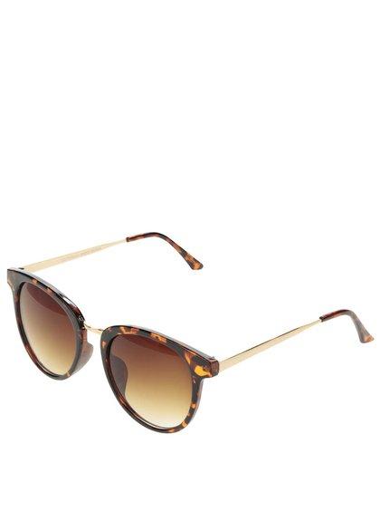 Hnědé žíhané sluneční brýle VERO MODA Love