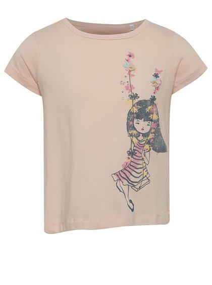 Růžové holčičí tričko s překládanou zadní částí 5.10.15.