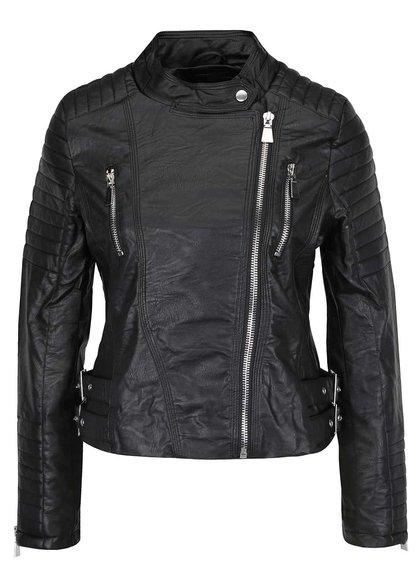 Jachetă neagră Haily´s Vanessa din piele ecologică
