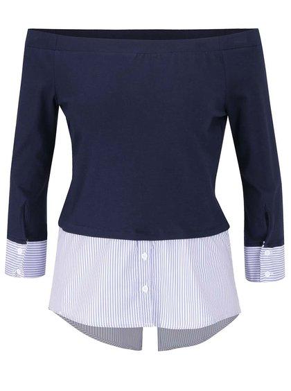 Bluză albastră TALLY WEiJL cu aspect 2 în 1