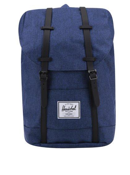 Modrý unisex batoh s černými popruhy Herschel Retreat 19,5 l