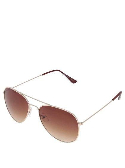 Sluneční brýle s obroučkami ve zlaté barvě Haily´s Pilot