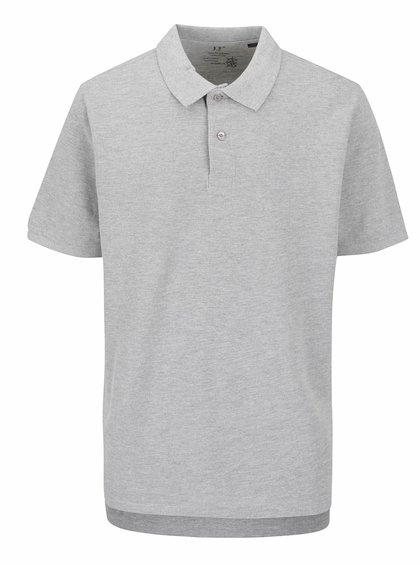 Tricou polo gri JP 1880 cu șlițuri laterale
