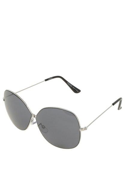 Sluneční brýle s obroučky ve stříbrné barvě Pieces Lola