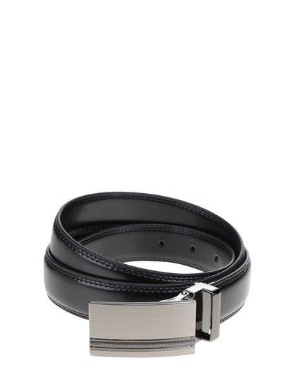 Černý kožený pásek s kovovou přezkou Dice Auckland