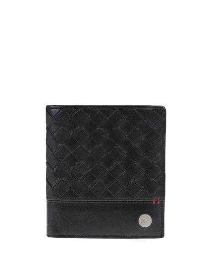 Černá kožená peněženka Dice Kearnes