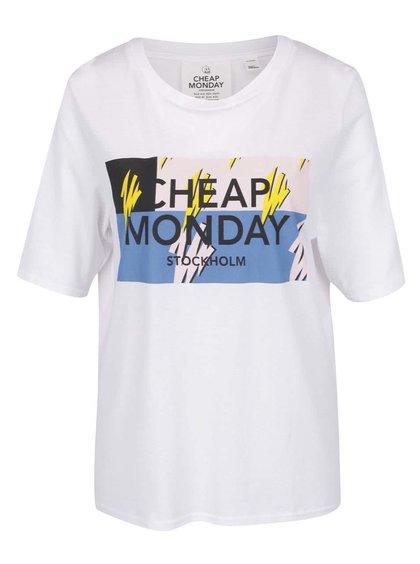 Tricou alb Cheap Monday cu imprimeu