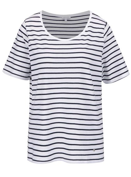 Modro-bílé pruhované tričko Gina Laura