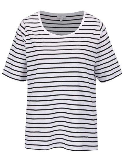 Černo-bílé pruhované tričko Gina Laura