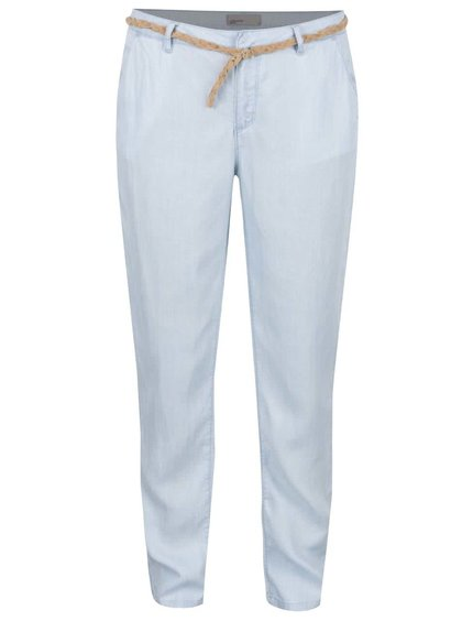 Světle modré kalhoty s páskem VERO MODA Zoe