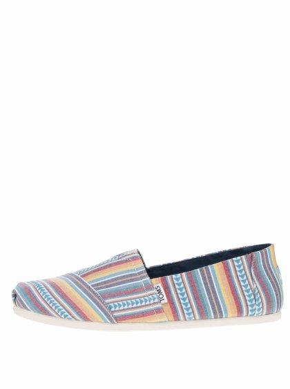 Krémovo-modré pánské loafers TOMS Joshua Tree