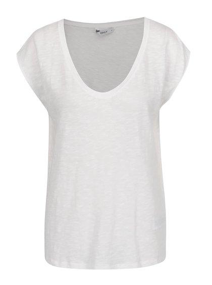 Krémové basic tričko ONLY Casa