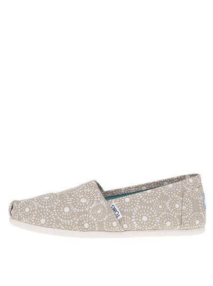 Béžové dámské vzorované loafers TOMS Shibori